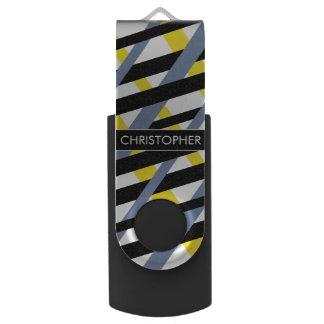 Personalized contemporary stripe pattern ybpgw swivel USB 2.0 flash drive