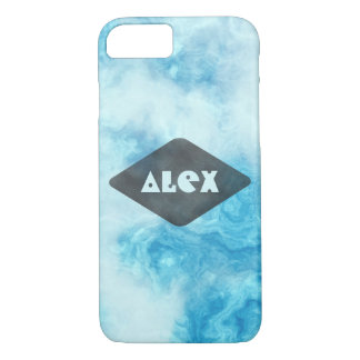 Personalized  Cool blue marble iphone 7 case
