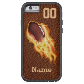 Personalized Cool Flaming Football iPhone 6 Case