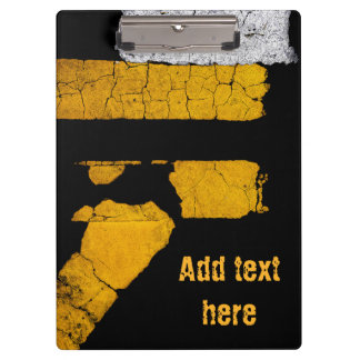 Personalized Cool Road Paint Clipboard