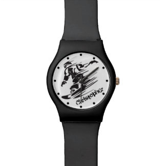 Personalized Cool Snowboarding Mountain Watch