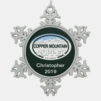 Personalized Copper Mountain Colorado Tag Ornament