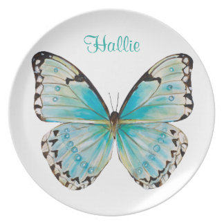 Personalized Costa Rica Butterfly Melamine Plate