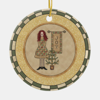 Personalized Country Christmas Joy Ornament
