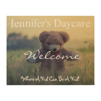 Personalized Country Daycare Welcome Sign