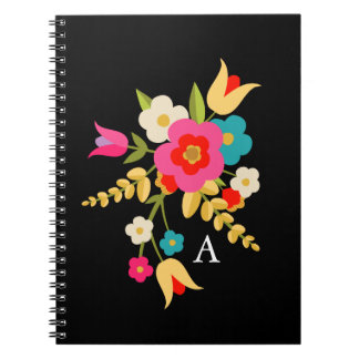 Personalized | Country Floral Spiral Notebook