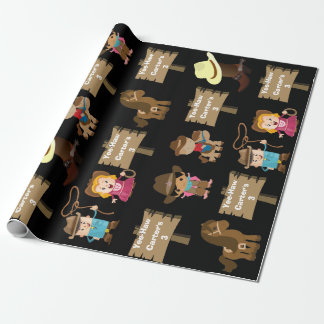 Personalized Cowboy or Cowgirl Birthday Wrapping Paper