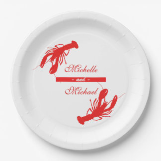Personalized Crawfish Boil Event Plates