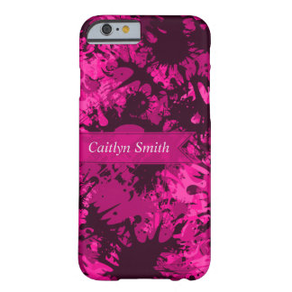 Personalized Creative & Fun Pink Paint Splatter Barely There iPhone 6 Case