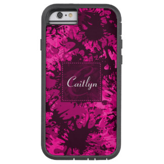 Personalized Creative & Fun Pink Paint Splatter Tough Xtreme iPhone 6 Case