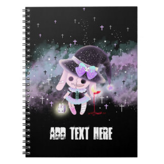 Personalized - Creepy cute hunter devil bunny Notebook