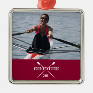 Personalized Crew Rowing Club Rower Name Year Metal Ornament