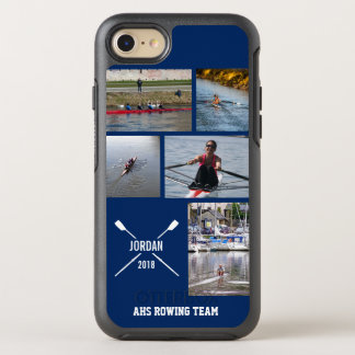 Personalized Crew Rowing Oars Photo Collage OtterBox Symmetry iPhone 8/7 Case