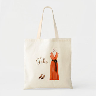 Personalized Crimson Bridesmaid Tote