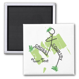 Personalized Cross Country Grass Runner Magnet