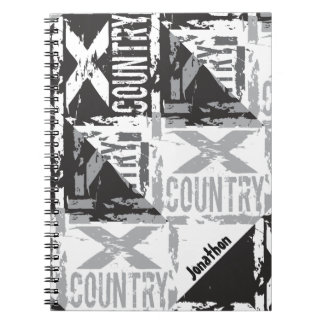 personalized cross country spiral notebook