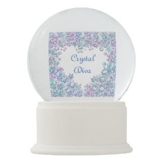 Personalized Crystal Diva Snow Globes