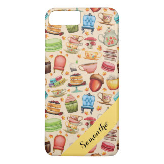 Personalized Cupcakes and Teapots iPhone 8 Plus/7 Plus Case