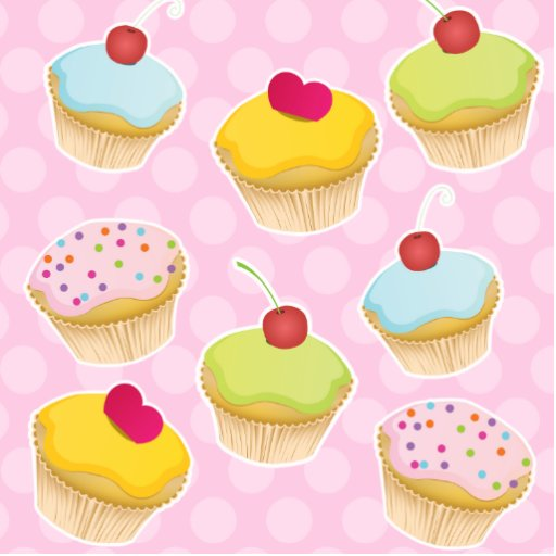 Personalized Cupcakes Cut Outs