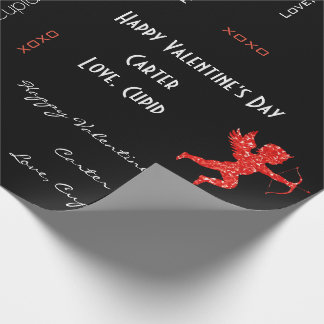 Personalized Cupid Valentine's Wrapping Paper