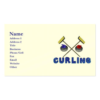 Personalized Curling Business Cards