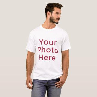 Personalized Cusotmized DIY Photo Men's T-shirt