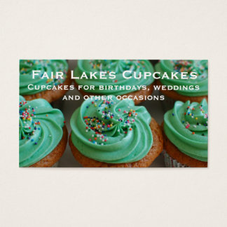 Personalized Custom Cupcakes Photo Business Card