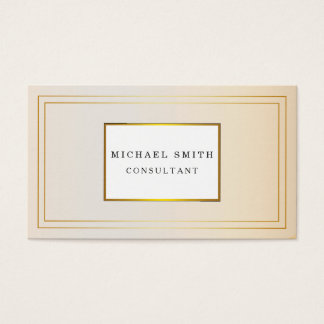 Personalized Custom Elegant Modern Plain Metal Business Card