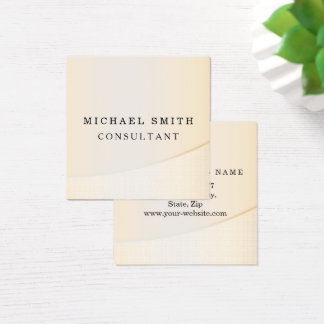 Personalized Custom Elegant Modern Plain Metal Square Business Card