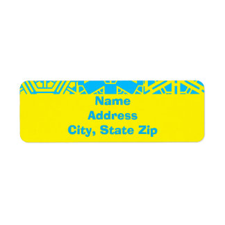 Personalized Custom Geometric 4Liza Return Address Label