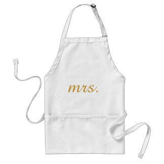Personalized Custom Gold Foil Mrs Standard Apron