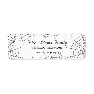 Personalized Custom Halloween Spiderweb Return Address Label