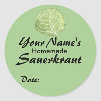 Personalized Custom Jar Labels Sauerkraut Cabbage