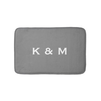 Personalized Custom Monogrammed Gray or Grey Bath Mats