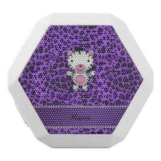 Personalized custom name zebra purple leopard white boombot rex bluetooth speaker