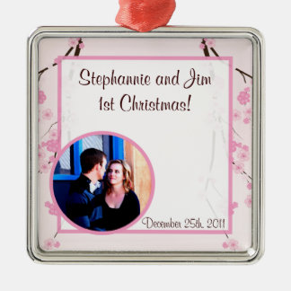 Personalized Custom Ornament Pink Cherry Blossom