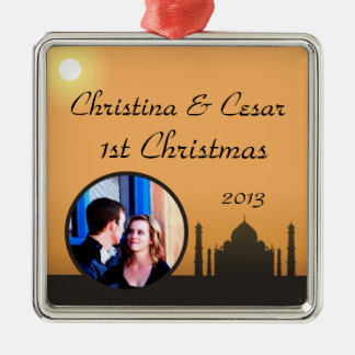 Personalized Custom Ornament Taj Mahal Sunset Oran