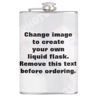 Personalized custom photo liquid flask