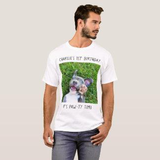 Personalized Custom Photo Puppy Dog Birthday Party T-Shirt