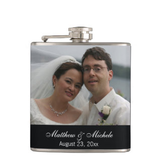 Personalized Custom Photo Wedding Flask