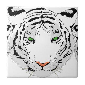 Personalized Custom Snow Tiger Ceramic Tile