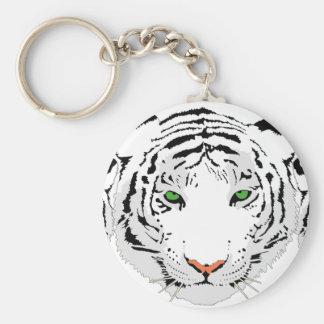 Personalized Custom Snow Tiger Key Ring