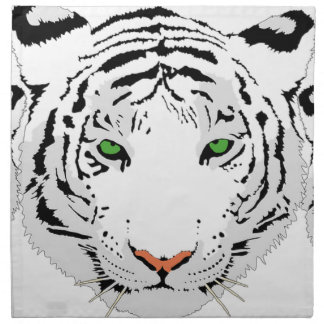 Personalized Custom Snow Tiger Napkin