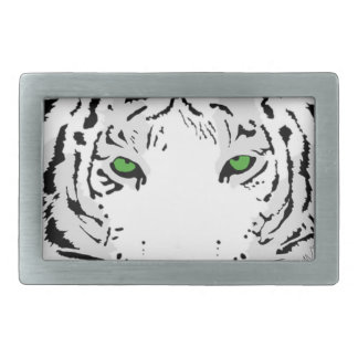 Personalized Custom Snow Tiger Rectangular Belt Buckle