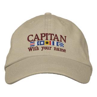 Personalized Custom Spanish Capitan Nautical Flags Baseball Cap