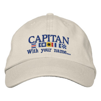 Personalized Custom Spanish Capitan Nautical Flags Embroidered Baseball Caps