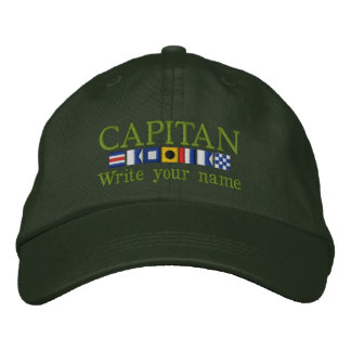 Personalized Custom Spanish Capitan Nautical Flags Embroidered Hat