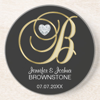 Personalized Custom Wedding Coasters Favors Gift