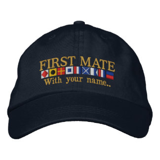 Personalized Custom Your First Mate Nautical Flags Baseball Cap