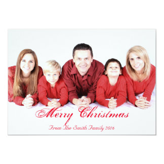 Personalized Custom Your Own Photo Christmas 13 Cm X 18 Cm Invitation Card